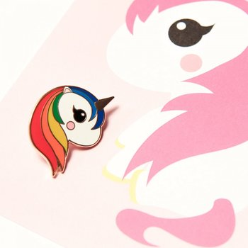 Enamel Pin from Studio Inktvis | Unicorn Rainbow