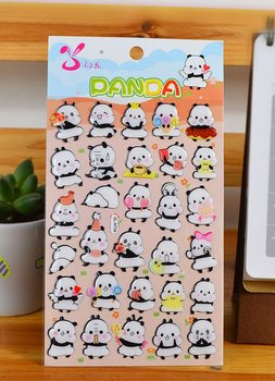 Hello Panda Puffy Epoxy Stickers