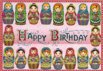 Postcard Edition Tausendschoen | Happy Birthday Matryoshka Doll