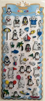 Puffy Epoxy Stickers | Polar Bear & Pinguin