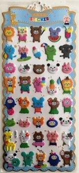 Puffy Epoxy Stickers   Funny Animals