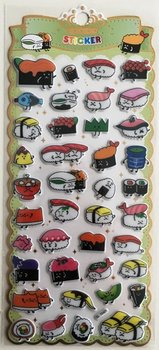 Puffy Epoxy Stickers | Kawaii Sushi