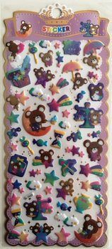 Puffy Epoxy Stickers   Star Bear