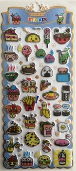 Puffy Epoxy Stickers   Funny Foods