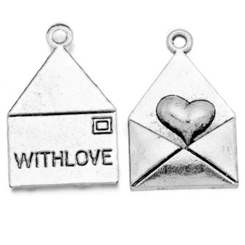 Tibetan Silver Tone Charms Pendants | Envelope With Love