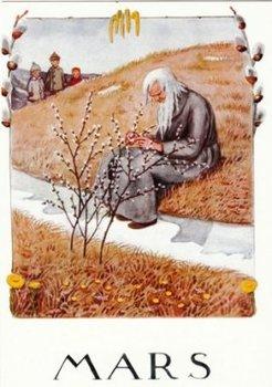 Elsa Beskow Postcard | March