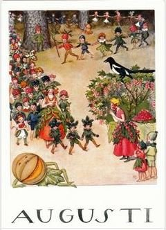 Elsa Beskow Postcard | August