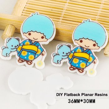 Flatbacks Planar Resin Charms | Little Twin Stars Kiki Kimono Animal