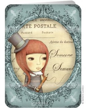 Santoro Eclectic Collection Double Postcard | Sincerely