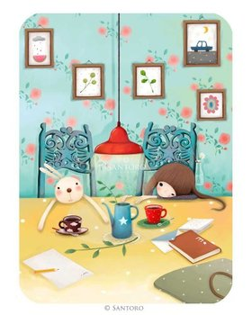 Santoro Eclectic Collection Double Postcard Kori Kumi Cards | Sleepy Sundays