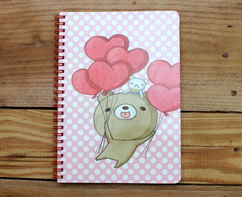 Honey Bear Spiral Ring Binder Notebook