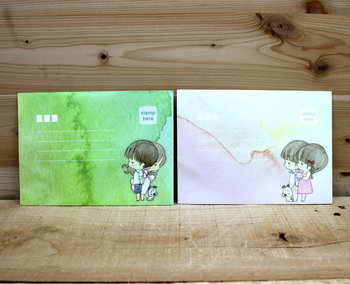 Envelopes Amy and Tim (2 designs)