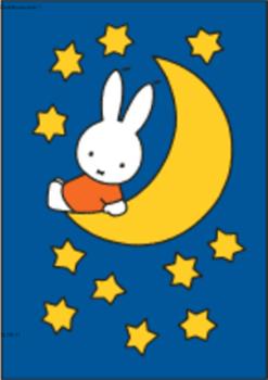 Nijntje Miffy Postcards | Nijntje op de maan