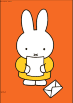 Nijntje Miffy Postcards | Nijntje leest brief