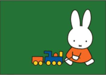 Nijntje Miffy Postcards | Nijntje met treintje