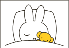 Nijntje Miffy Postcards | Nijntje slaapt