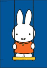 Nijntje Miffy Postcards | Nijntje op de schommel