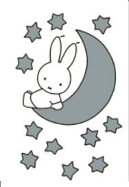 Nijntje Miffy Postcards | Nijntje op maan