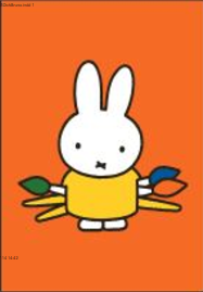 Nijntje Miffy Postcards | Nijntje met penselen