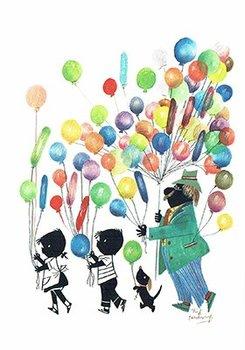Fiep Westendorp Postcards | Jip en Janneke met ballonnen