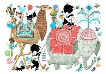 Fiep Westendorp Postcards | Jip en Janneke in optocht met olifant
