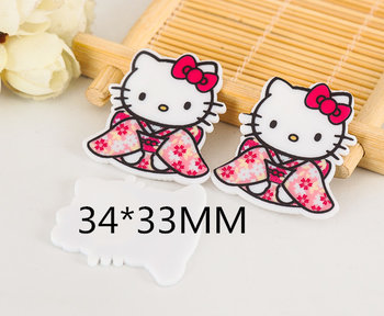 Flatbacks Planar Resin Charms | Hello Kitty Kimono