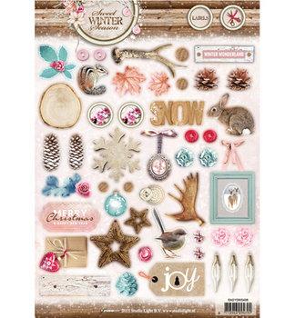A4 Die cut sheet Studio Light   Sweet Winter Season
