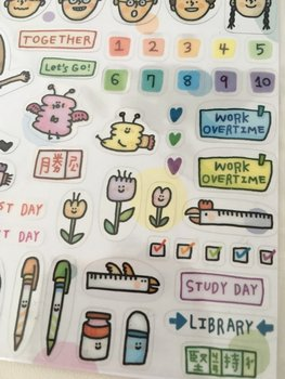 Colourful Life Clear Stickers | Planner stickers