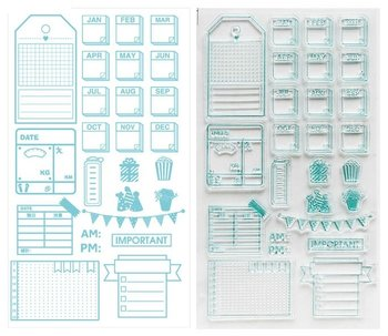 Clear Stamp Sheet | Planner Labels