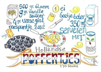 Food/Recipe Postcard by PtiSchti | Hollandse Poffertjes