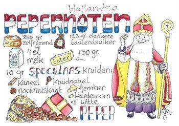 Food/Recipe Postcard by PtiSchti | Hollandse Pepernoten