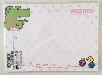 Wasami Crocodile Envelope Set | Bubble