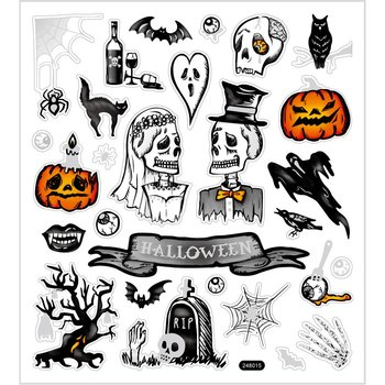 Halloween Seal Sticker with Glitter Foil
