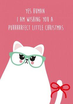 Studio Inktvis Postcard | Perfect Little Christmas Grumpy Cat