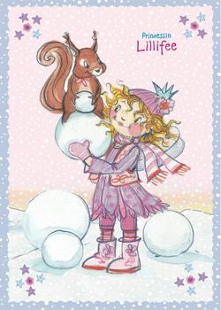 Princess Lillifee Postcard With Glitter | Winter