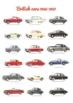 Postcard | British Cars 1956-1957