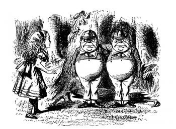 Postcard Alice in Wonderland | 1865