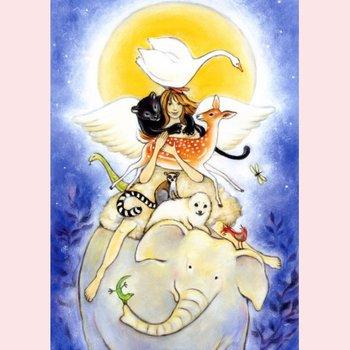 Postcard Geertje van der Zijpp | Angel of animals