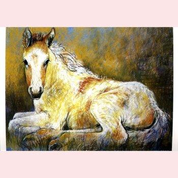 Kunstkarte Loes Botman Pferdekopf