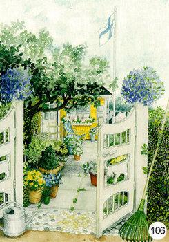 Inge Look Nr. 106 Postcard Garden | Garden