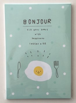 Bonjour Letter Paper Pad | Green with Egg