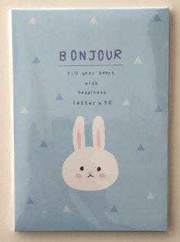 Bonjour Letter Paper Pad | Blue Bunny