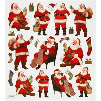 Seal Sticker with Glitter Foil | Santa Claus