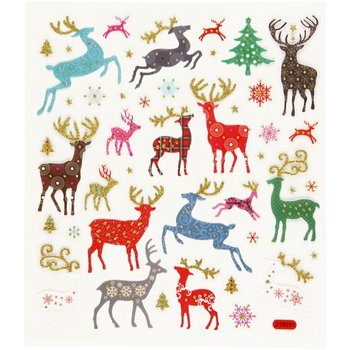 Seal Sticker with Glitter Foil | Reindeer