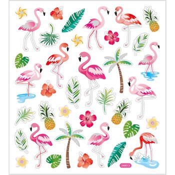 Seal Sticker with Glitter Foil | Flamingo