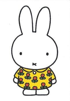 Nijntje Miffy Postcards | Nijntje in bloemetjesjurk