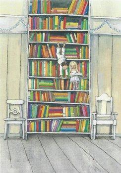 Museum Cards Postcard | Boekenkast, Marit Törnqvist