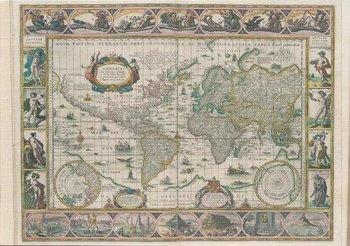 Museum Cards Postcard   Map of the world, Willem Jansz Blaeu