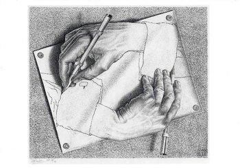 Museum Cards Postcard | M.C. Escher, Drawing Hands, 1948