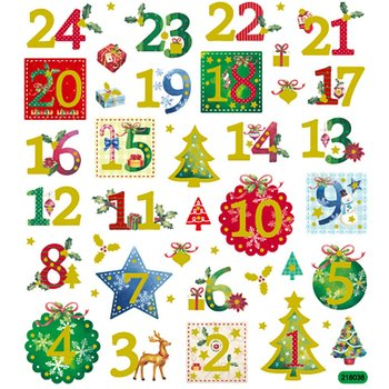 Seal Sticker with Glitter Foil   1-24
